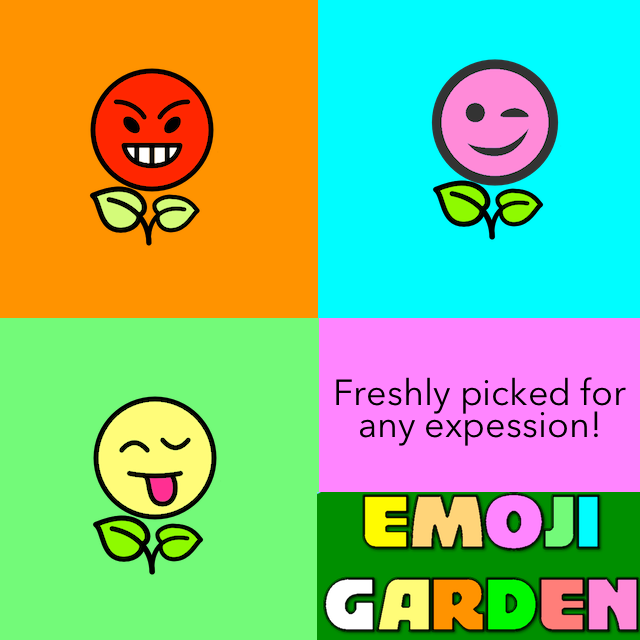 Over 30 emoji flowers freshly picked for any expression. iPhone sticker pack.