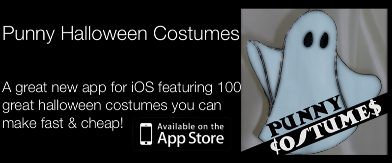 Punny Costumes iPhone App. Pun Halloween Costume Ideas.